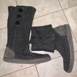 UGG Australia classic crash knit tall gray boots